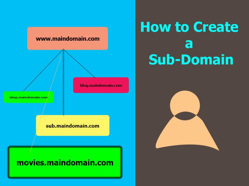 how to create a sub domain